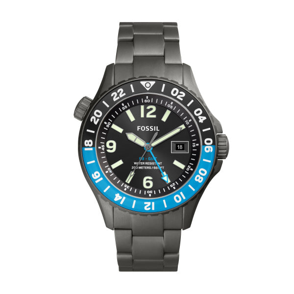 Fossil Men's Limited Edition FB-GMT Dual Time Titanium Watch