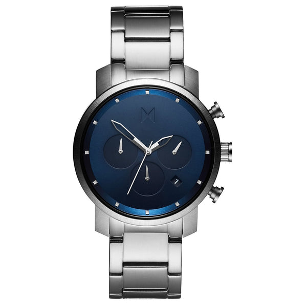 MVMT Men's Chrono 40mm Navy Silver Watch