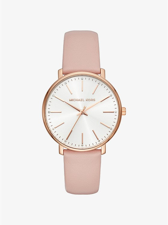 Michael Kors Women's Pyper Leather Watch