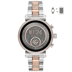 Michael Kors Women's Sofie Heart Rate Pavé Two-Tone Smartwatch