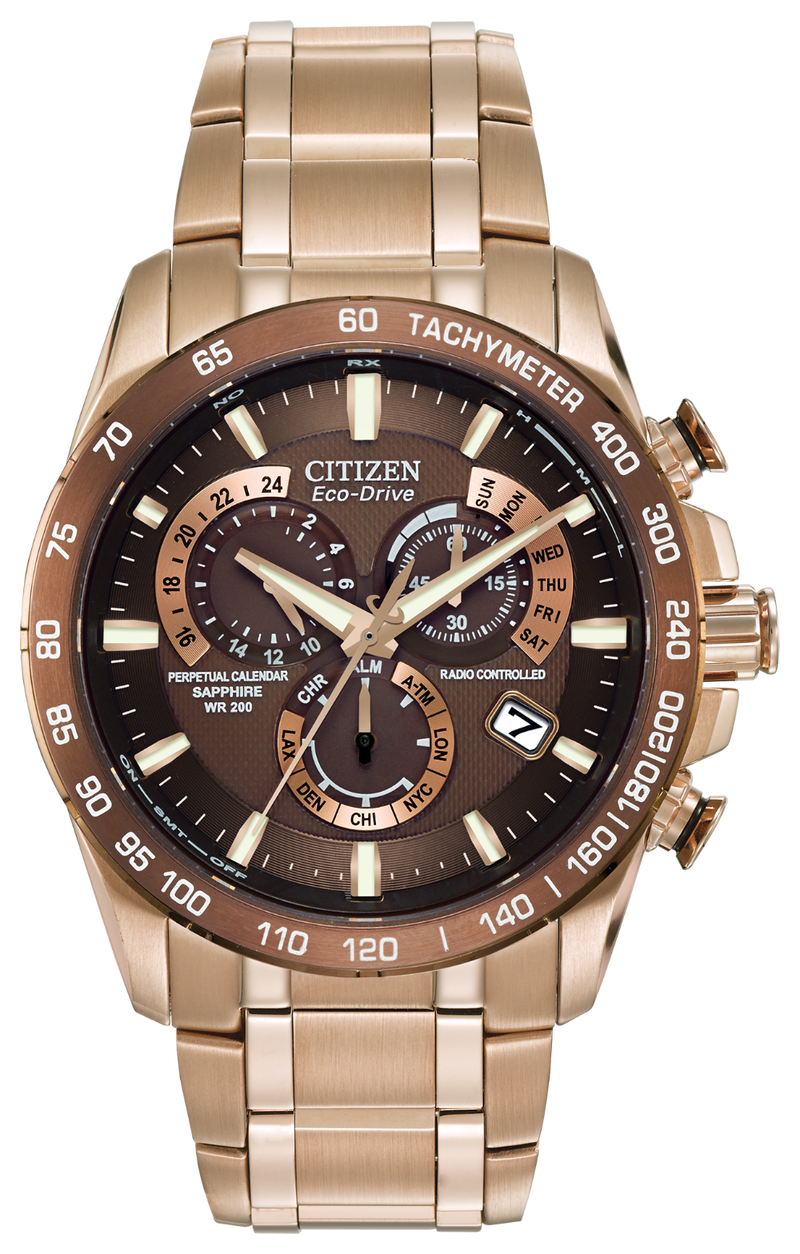 Citizen Men's Eco-Drive Perpetual Chronograph A-T Watch