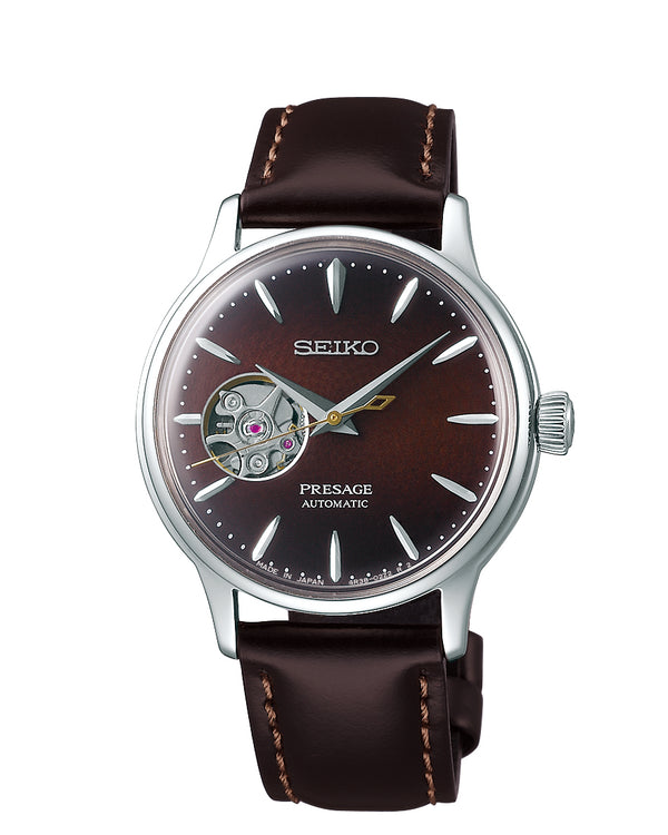 Seiko Women's Presage Automatic Skeleton Watch