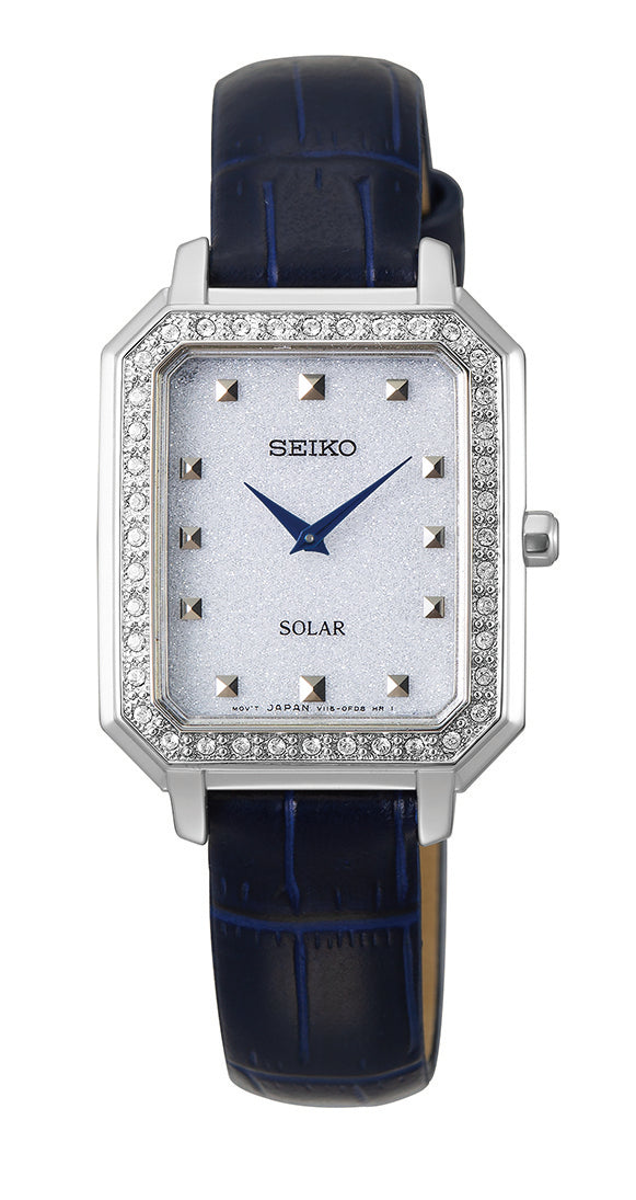 Seiko Women's Solar Swarovski Crystal Watch