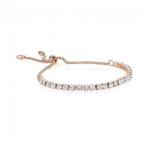 ARZ Adjustable Rose Gold Steel Tennis Bracelet