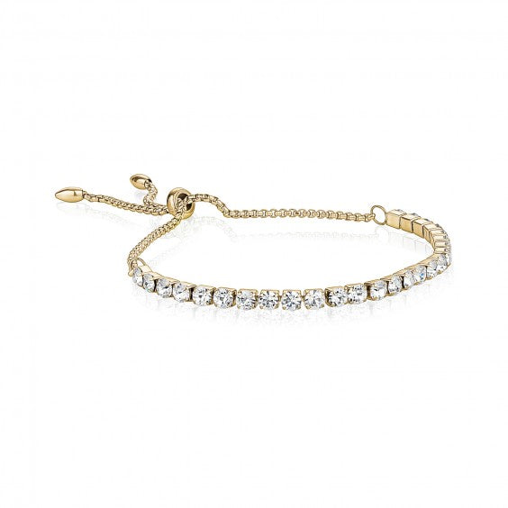 ARZ Adjustable Gold Steel Tennis Bracelet