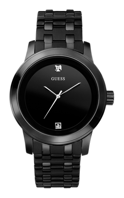 Guess Men's Round Diamond Watch