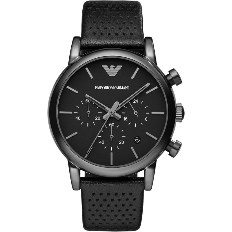 Emporio Armani Men's Leather Chronograph Watch