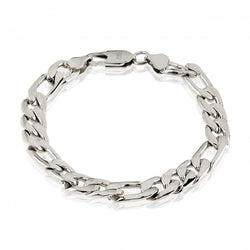 ARZ Men's 10mm Steel Figaro Link Bracelet