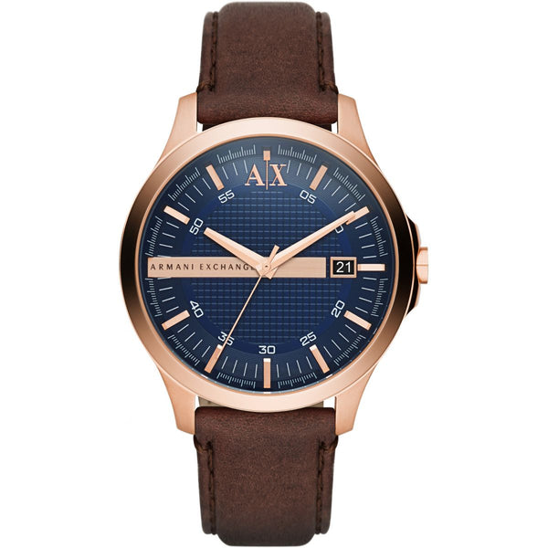 Armani Exchange Men's Leather Dress Watch