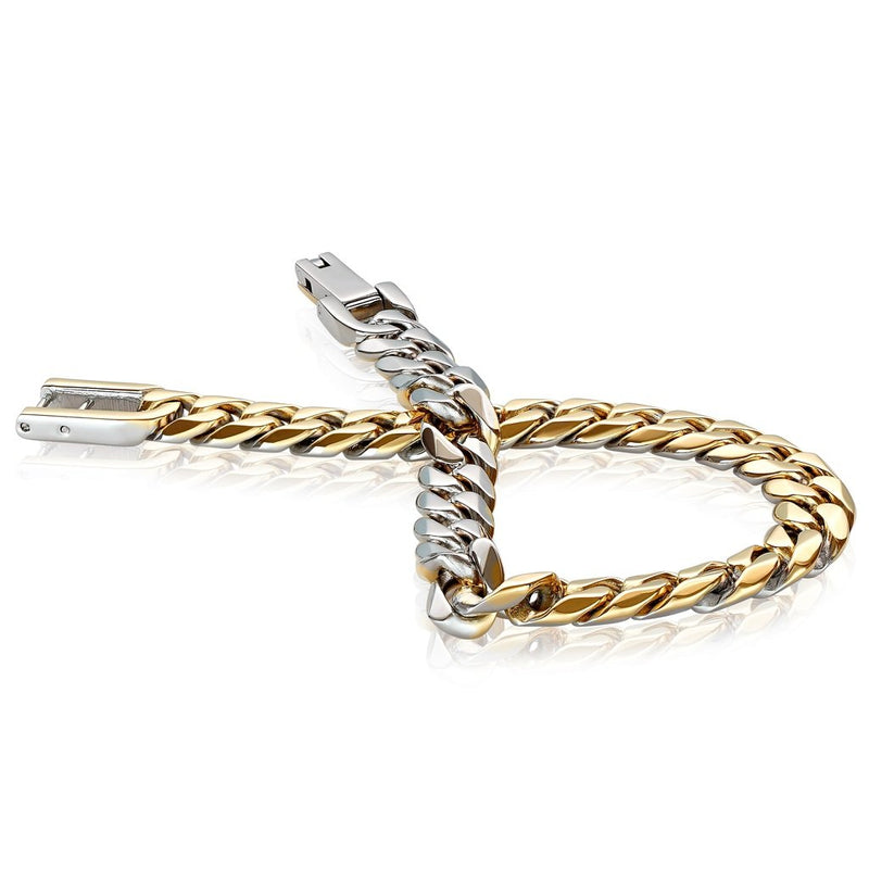 Italgem Men's Reversible Curb Link Bracelet