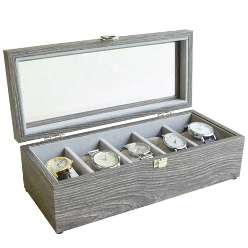 Gunther Mele Nolan Wood Grain Watch Case