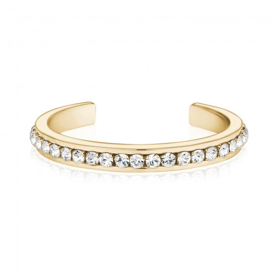ARZ Gold Steel Crystal Bangle