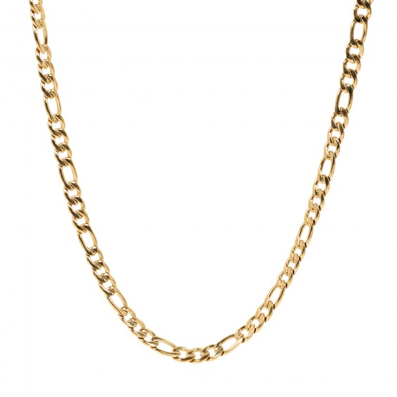 ARZ Men's 7mm Figaro Link Necklace