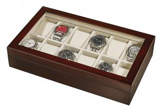 Alpine Wooden and Glass Window Watch Box