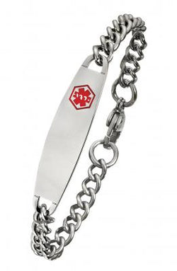Alpine Stainless Steel Medical ID Bracelet