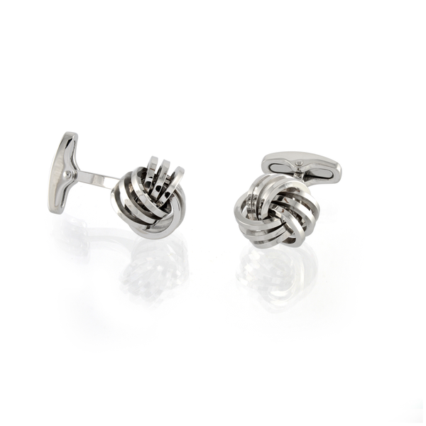 Italgem Men's Love Knot Cuff Links