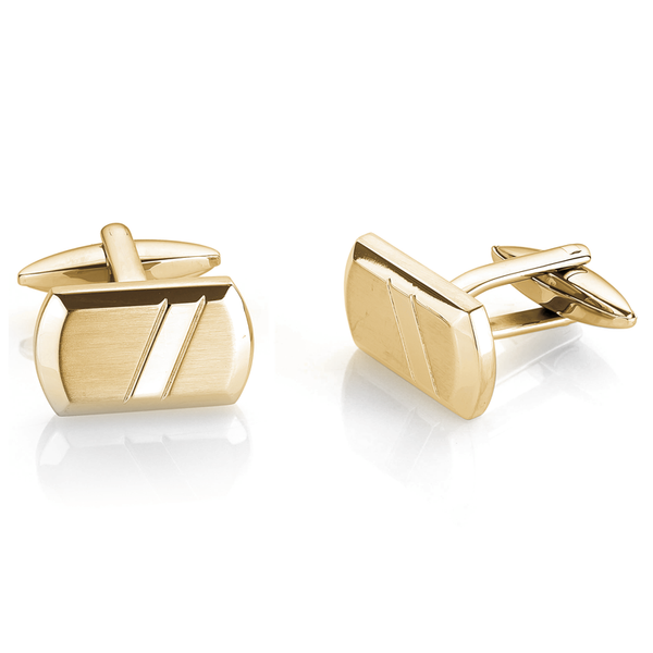 Italgem Men's Stainless Steel Cuff Links