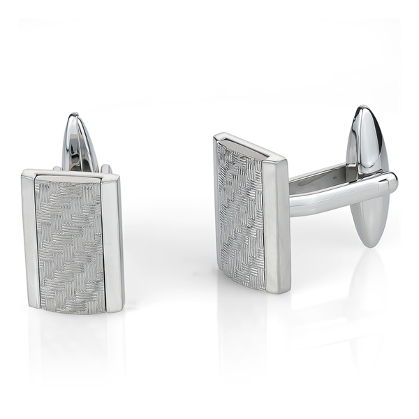 Italgem Men's Woven Cuff Links