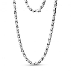 ARZ Men's Stainless Steel Bicycle Chain Necklace 24""
