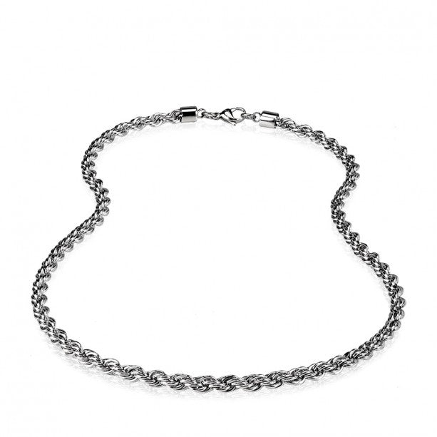 ARZ Men's Stainless Steel Rope Chain