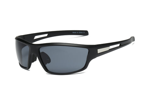 Sports Rectangular Mirrored Sunglasses