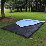 "TOMSHOO 86""x60"" Double Thermal Sleeping Bag  with 2 Pillows"