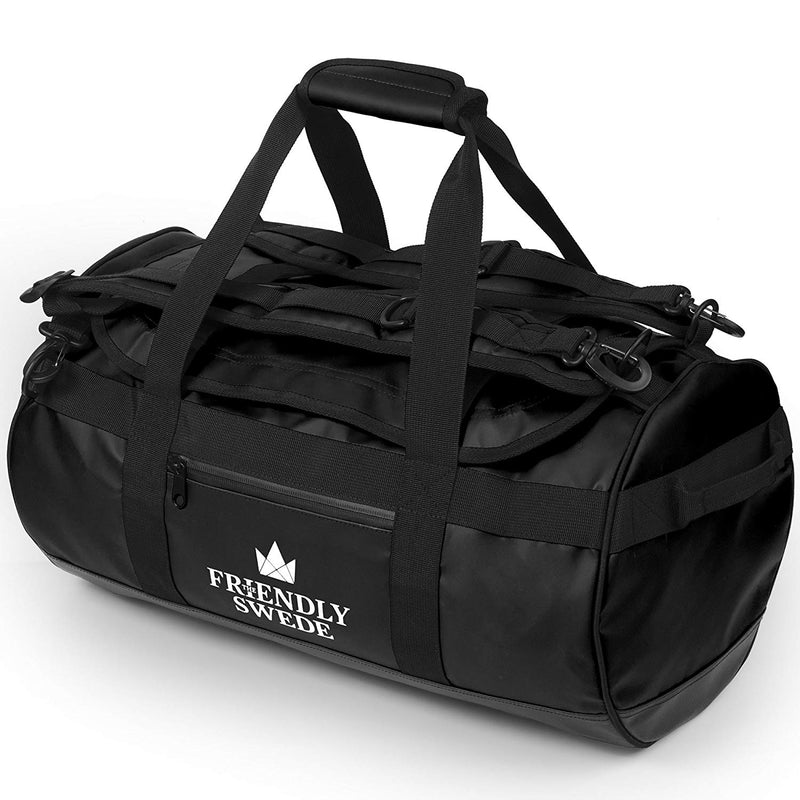 black sandhamn duffel 30L bag