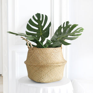 Wicker Seagrass Foldable Flower Pots
