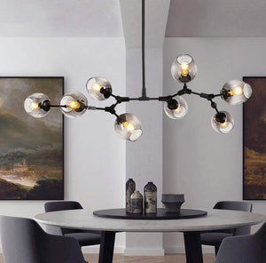 Awa Art Deco Bubble Chandelier in Black