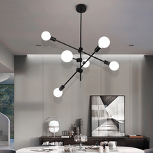 Load image into Gallery viewer, Hikari Sputnik Molecular Chandelier in Black