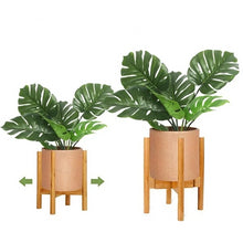 Load image into Gallery viewer, Mid-Century Expandable Bamboo Indoor Plant Stand