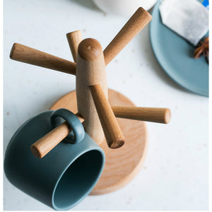 Wooden Coffee Cup Holder