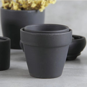 Black Clay Pot