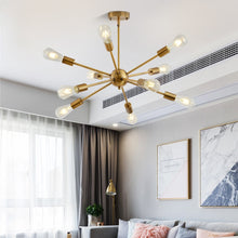 Load image into Gallery viewer, Hanabi Mid-Century Modern Sputnik Chandelier - Available in Gold, Silver & Black