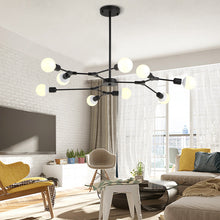 Load image into Gallery viewer, Kinoeda 9-Light Sputnik Modern Chandelier - Available in Gold & Black