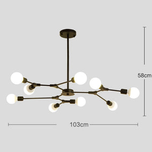 Kinoeda 9-Light Sputnik Modern Chandelier - Available in Gold & Black