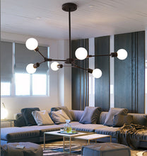 Load image into Gallery viewer, Kinoeda 6-Light Sputnik Modern Chandelier - Available in Gold & Black