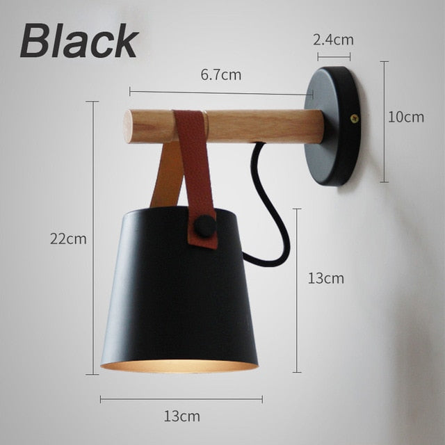 Nordic Wooden Wall Lamp