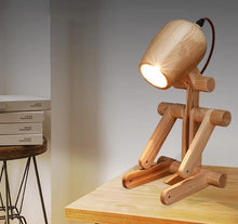 Load image into Gallery viewer, Hachiko Dog Wood Table Lamp (US/CA plug)