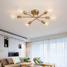 Load image into Gallery viewer, gold sputnik mid-century modern chandelier