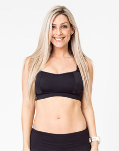 Maternity Activewear Bra - Fit2feed Bra Black