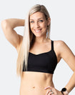** CLEARANCE ** High Impact Racerback Sports Bra - Fit2feed Bra Black