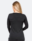 ** CLEARANCE ** Maternity Top - Bamboo Long Sleeve Black