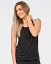 ** CLEARANCE ** Breastfeeding Top - Loose Fit Tank Black