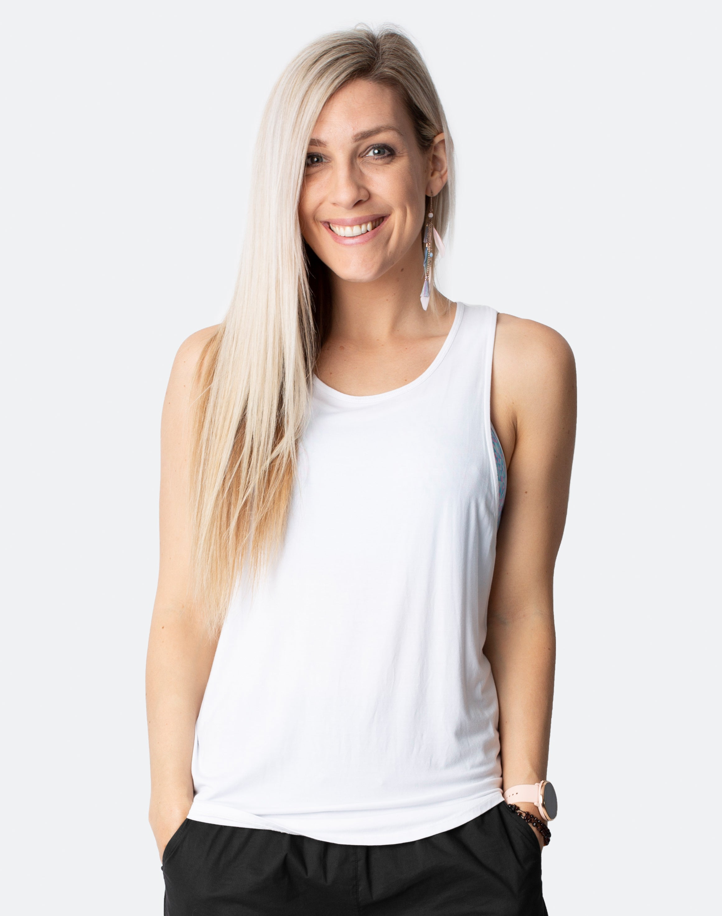 best white breastfeeding tanks