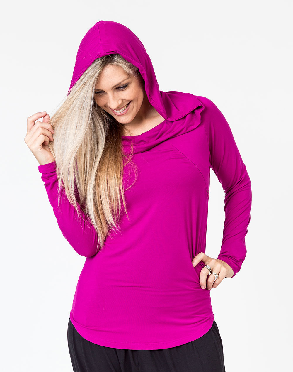 Shadow Hoodie Mulberry