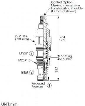PB11A30BL<br>Reducing/Relieving Valve <br>(Replaces Sun PRDB-LBN)