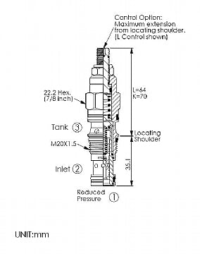 PP11A30NL<br>Reducing/Relieving Valve <br>(Replaces Sun PPDB-LNN)