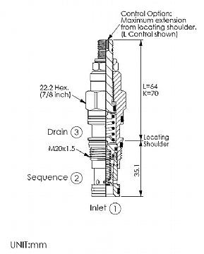 SP11A30BL<br>Sequence Valve <br>(Replaces Sun RSDC-LBN)
