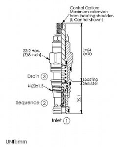 SP11A30DL<br>Sequence Valve <br>(Replaces Sun RSDC-LDN)